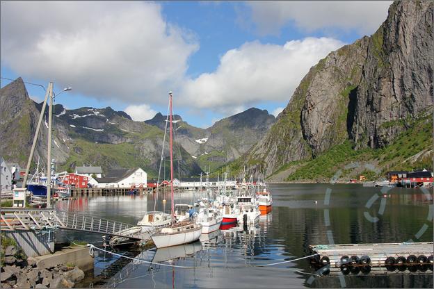 Vakantie verslag Noorwegen haven hamnoy