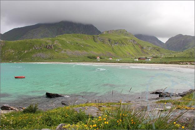 Vakantie verslag Noorwegen lofoten haukland beach
