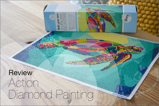 review action Diamond painting groot formaat