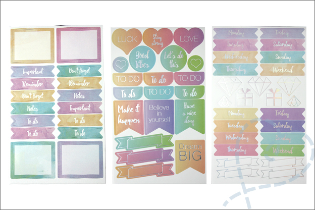 Action stickers voor mascha planner agenda bullet journal
