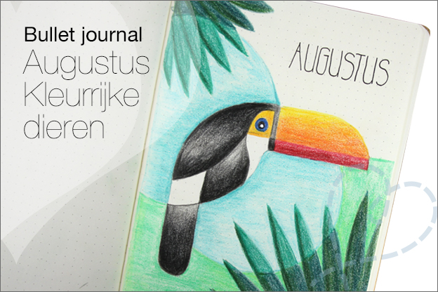 Bullet journal Augustus dieren thema