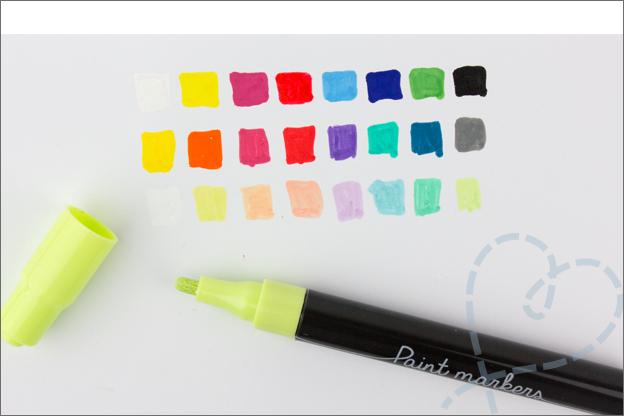 DIY action paint markers kleuren