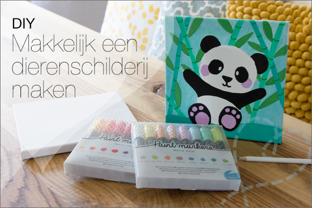 DIY schilderij panda paintmarkers action