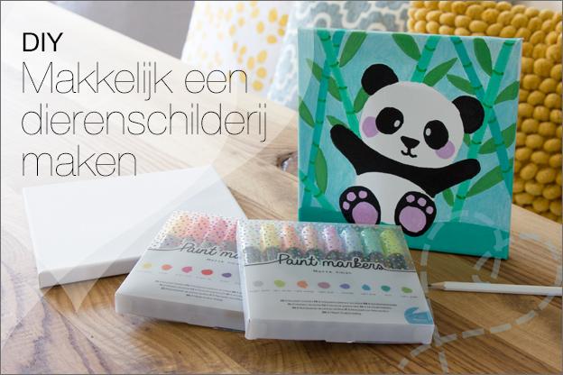 DIY schilderij panda paintmarkers action