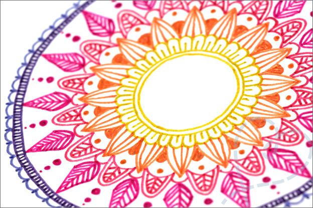 Kaarten maken Mandala detail