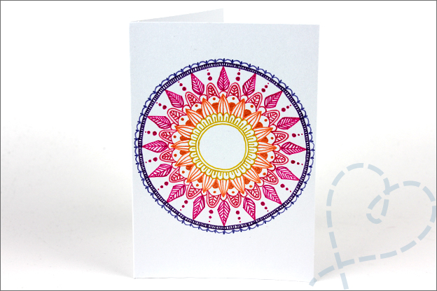 Kaarten maken Mandala oefenen DIY