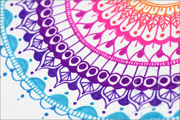 Kaarten maken Mandala oefenen leren