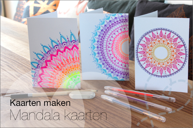 Kaarten maken Mandala tekenen