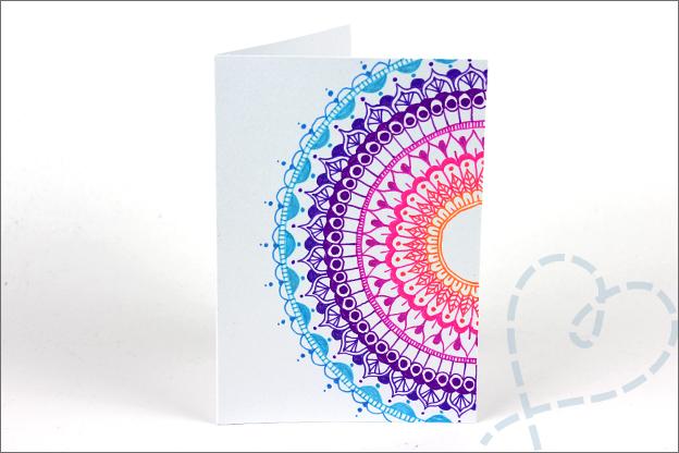 Kaarten maken Mandala tekenen kleuren uitleg