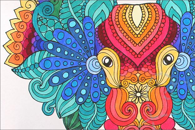 Kleuren voor volwassenen kleurboek decotime inkleuren twinmarkers
