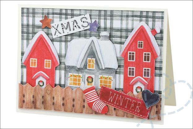 Action decotime kaarten maken kerst papierblok