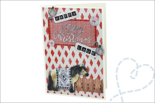 Action decotime kerst kaarten maken