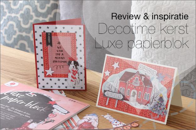 Action decotime kerst luxe papierblok kaarten maken