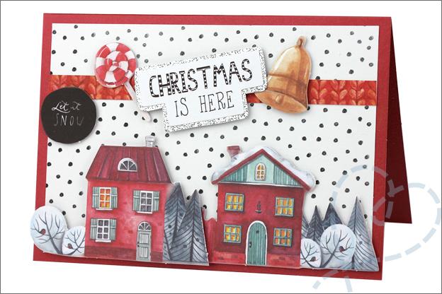 Action decotime kerst luxe papierblok kaarten voorbeelden