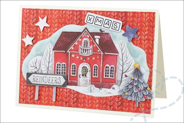 Action decotime papierblok kerst inspiratie