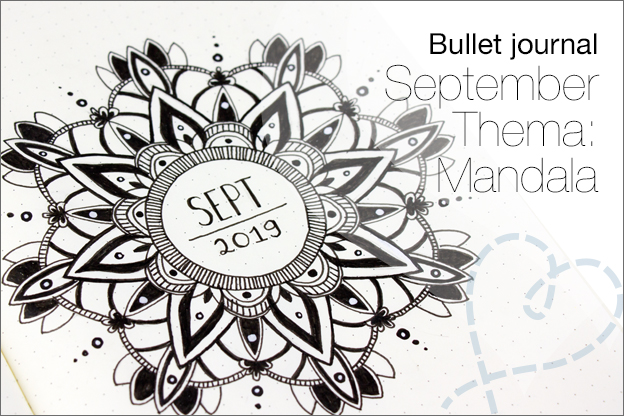 Bullet journal September thema mandala tekenen