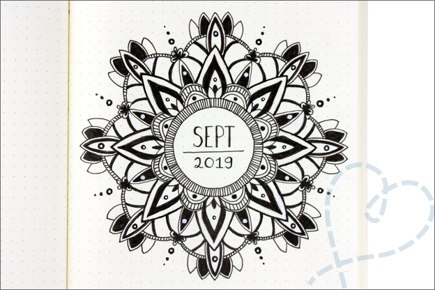 Bullet journal mandala cover september