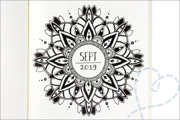 Bullet journal mandala cover september