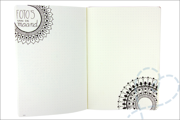 Bullet journal mandala foto maand