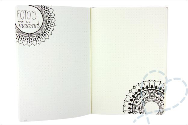 Bullet journal mandala foto maand