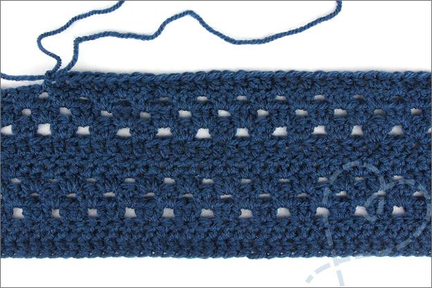 Haken omslagdoek Wendy zeeman Royal donkerblauw