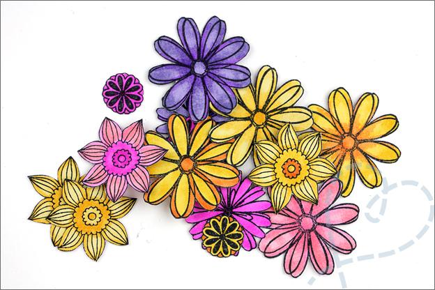 Kaarten maken bloemen clear stamps
