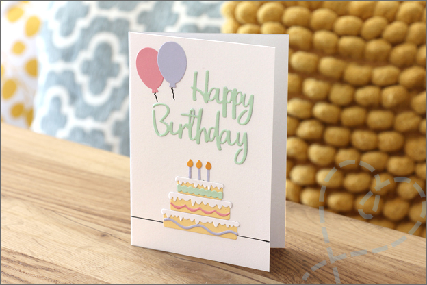 Kaarten maken snijmallen happy birthday