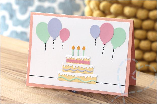 Kaarten maken snijmallen verjaardagskaart voorbeeld