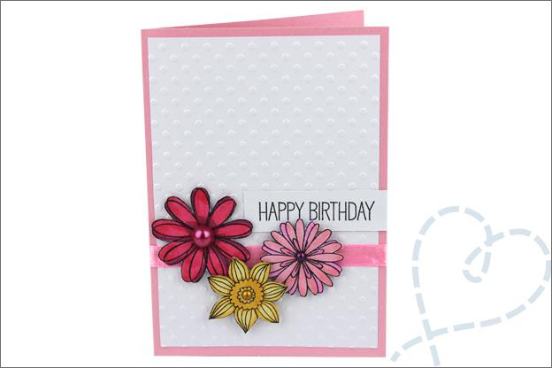 Zelf Kaarten maken bloemen verjaardag