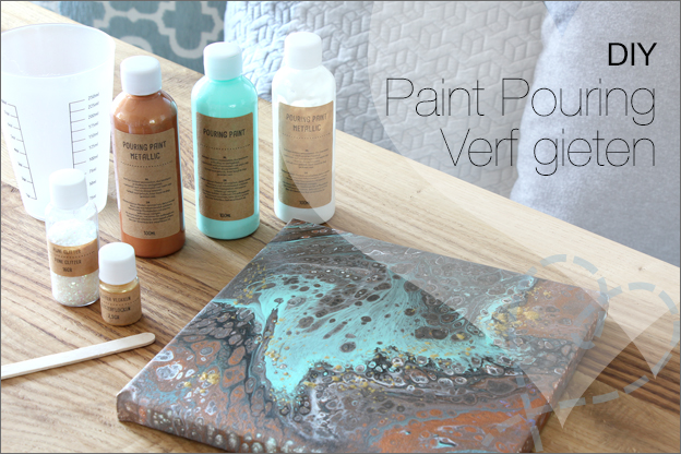 DIY Paint pouring acryl verf gieten uitleg