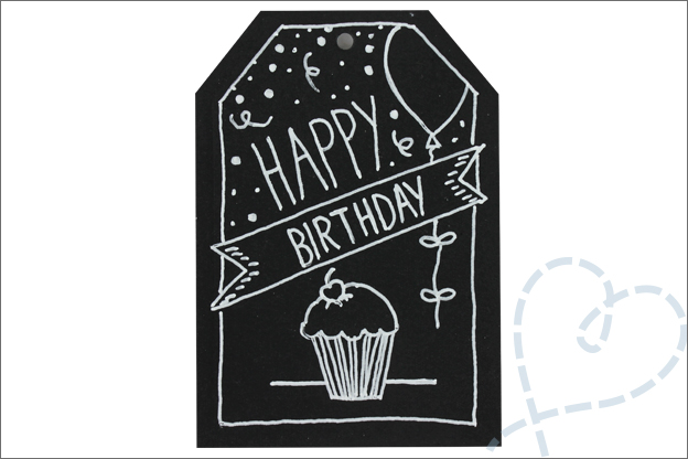 Handlettering cadeaulabels cupcake knutselen