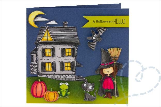 Kaarten Halloween instructie stap voor stap