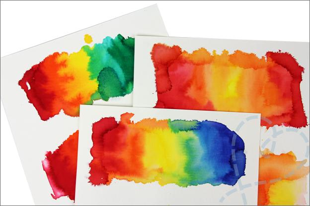 Kaarten maken achtergrond ecoline Action liquid watercolor