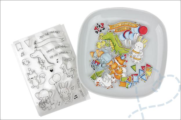 Kaarten maken clear stamps stempelen inkleuren twinmarkers