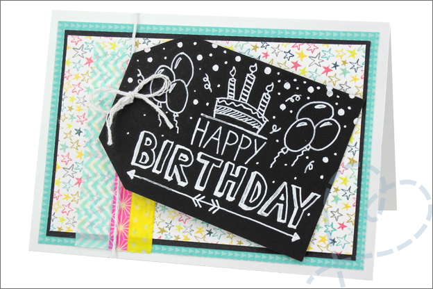 Kaarten maken tutorial Happy birthday