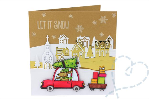 Kerstkaarten maken clear stamps uitleg