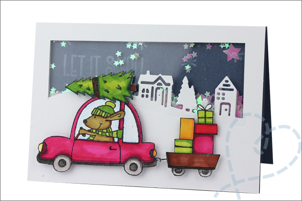 Kerstkaarten maken schudkaart confetti kerst