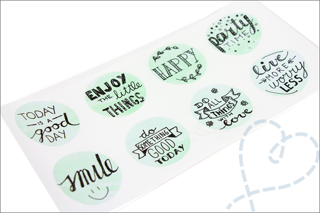 Stickers zelf make handlettering