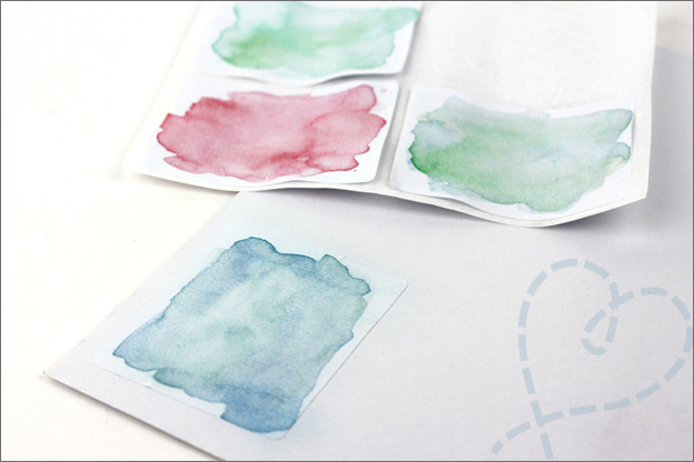DIY stickers maken aquarel