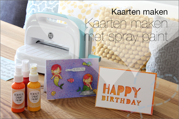 Action spray paint kaarten maken
