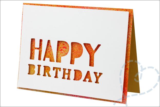 Action spray paint kaarten maken verjaardag