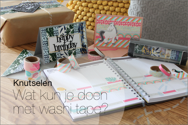 Action washi tape DIY knutselen ideeen