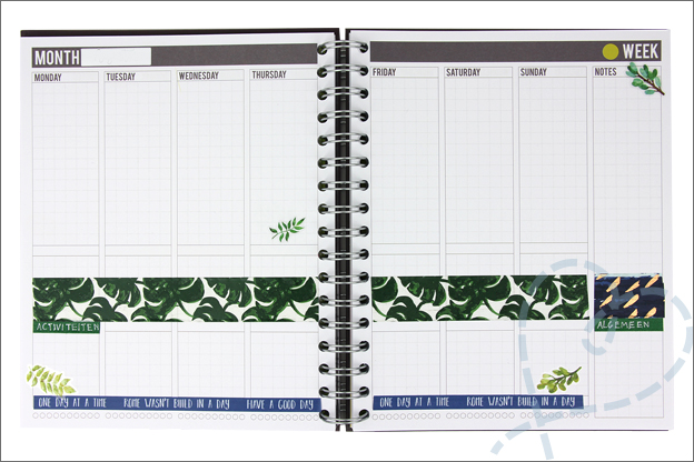 Action washi tape Mascha planner inspiratie