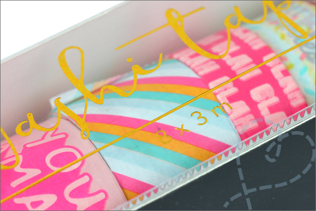 Action washi tape bewaardoosje snijrand