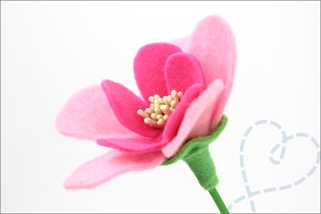 Bloemen van vilt inspiratie