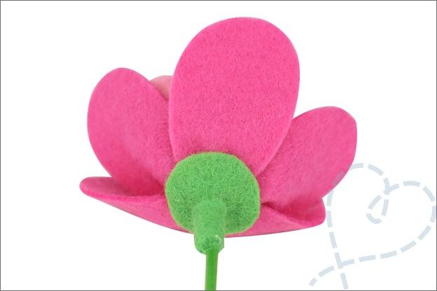 Bloemen van vilt knutselen makkelijk