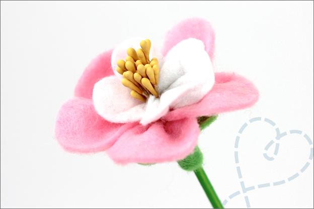 Bloemen van vilt maken knutselen