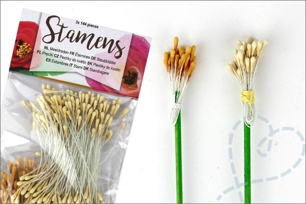 Bloemen van vilt meeldraden Action
