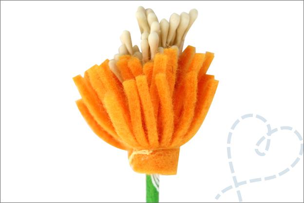 Bloemen van vilt uitleg tutorial