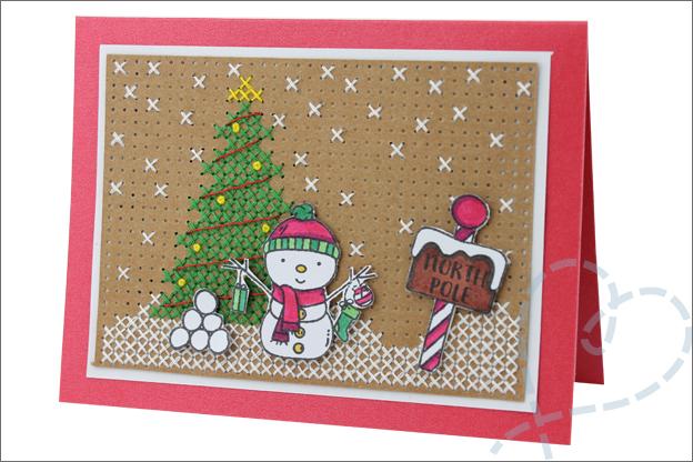 Kerstkaarten zelf knutselen borduren